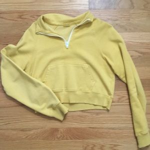 mustard yellow cropped long sleeve